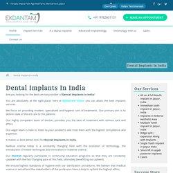 Dental Implants In India - Ekdantam clinic