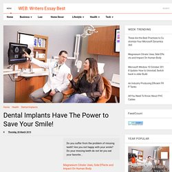 Dental Implants Have The Power to Save Your Smile!