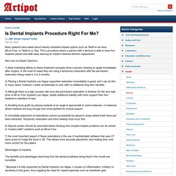 Is Dental Implants Procedure Right For Me?