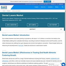 Future Market Insights Presents DENTAL LASERS Market Growth Projections in a Revised Study Based on COVID-19 Impact