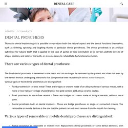 DENTAL PROSTHESIS - DENTAL CARE