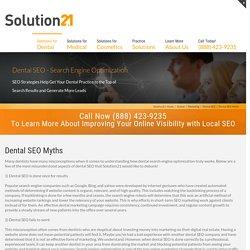 Dental SEO Myths