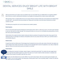 Dental Services: Enjoy Bright Life with Bright Smile