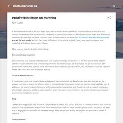 Dental website design and marketing