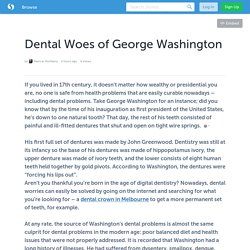 Dental Woes of George Washington