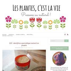 DIY : dentifrice ayurvédique naturel en poudre - Les plantes, c'est la vie !
