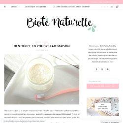 Dentifrice en poudre fait maison - Bioté Naturelle
