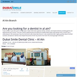 Best Dentist and Dental Clinic in Al Ain