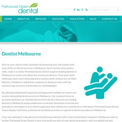 Book your appointment with best Dentist Melbourne