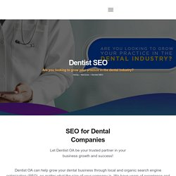 Dentist SEO - Dentist Online Advertising