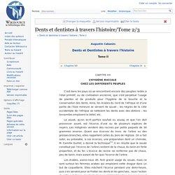 Dents et dentistes à travers l'histoire/Tome 2/3
