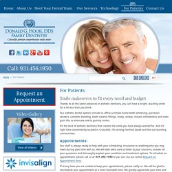 Donald G. Hooie, DDS Family Dentistry – Appointments, Patient Forms & Insurance