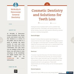 Cosmetic Dentistry and Solutions for Teeth Loss