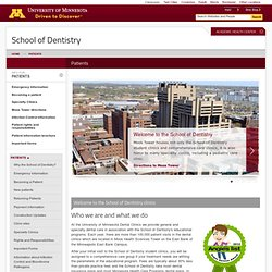 Patients - School of Dentistry, University of Minnesota
