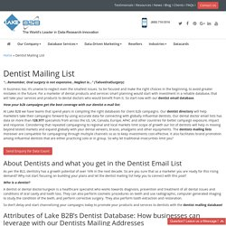 Dental Doctors Mailing Addresses