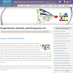 Scrape Doctors, Dentists, and Chiropractor Database Listing