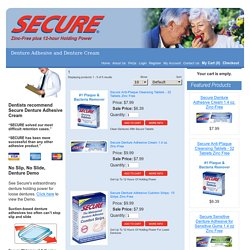 Denture Adhesive - Denture Cream - Products