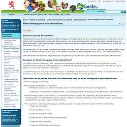 Bilan biologique d'une dénutrition - Portail Santé // Grand-Duché de Luxembourg - Bilans biologiques