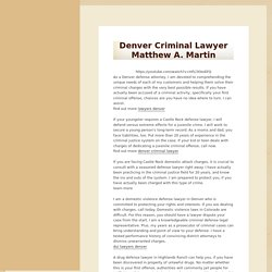 Denver Criminal Lawyer Matthew A. Martin -