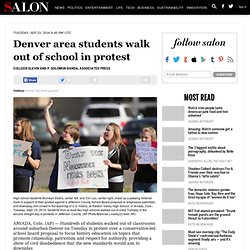 Denver area students walk out of school in protest