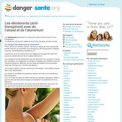 Deodorants aluminium et alcool, le cancer lié aux deodorants ?