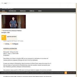 Deon Meyer : Biographie ; 1 entretien ; 9 vidéos et interview ; 13 Livres - Babelio