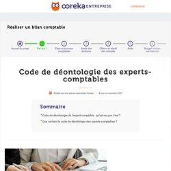 Code de déontologie expert-comptable : principes