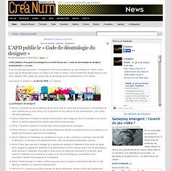 L'AFD publie le « Code de déontologie du designer »