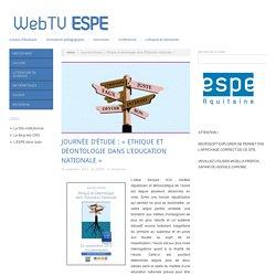 Journée d'étude : «Ethique et déontologie dans l'Education Nationale»