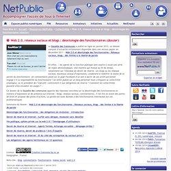 Web 2.0, réseaux sociaux et blogs : déontologie des fonctionnaires (dossier)