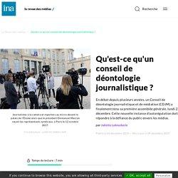 Qu'est-ce qu'un conseil de déontologie journalistique ?