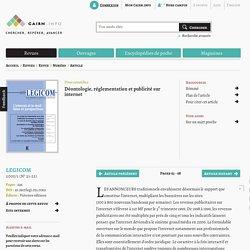 Déontologie, réglementation et publicité sur internet