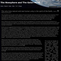 wiki : The Noosphere and The Gaian Mind