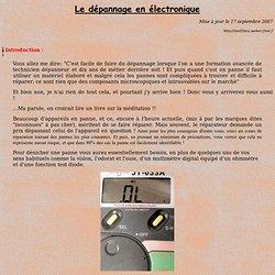 Dépannage des circuits électroniques