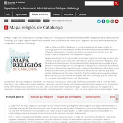 Mapa religiós de Catalunya. Departament de Governació, Administracions Públiques i Habitatge