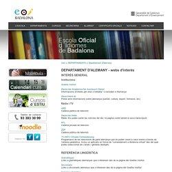 DEPARTAMENT D'ALEMANY - webs d'interès