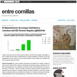 El Departamento de Lengua Castellana y Literatura del IES Chaves Nogales (@IESChN)