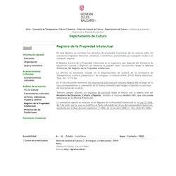 Departamento de Cultura-Registro de la Propiedad Intelectual
