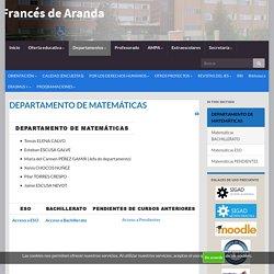 DEPARTAMENTO DE MATEMÁTICAS – IES Francés de Aranda