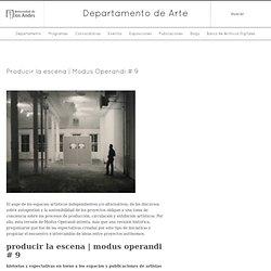 Departamento de Arte » Producir la escena