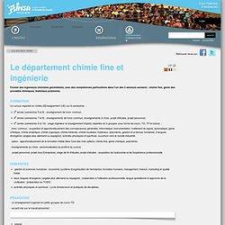 INSA Rouen : département chimie fine et ingénierie —