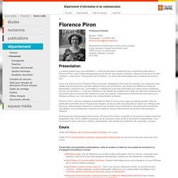 Florence Piron- Département d'information et de communication - Université Laval