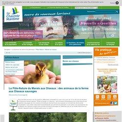 Site officiel du Département - Conseil départemental 17 - Le Pôle-Nature du Marais aux Oiseaux : des animaux de la ferme aux Oiseaux sauvages