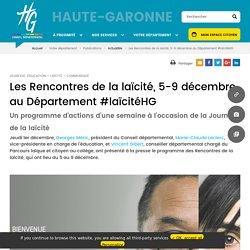 Les Rencontres de la laïcité, 5-9 décembre au Département #laïcitéHG