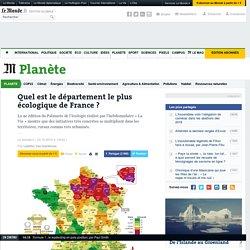 Quel est le département le plus écologique de France ?