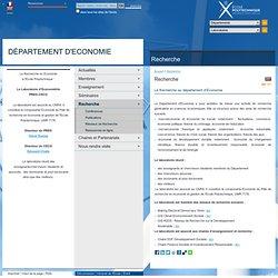 Département d'Économie - Recherche