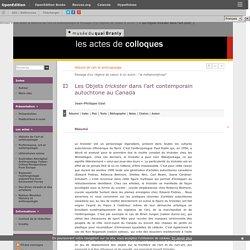 Histoire de l'art et anthropol... - Les Objets trickster dans l'ar... - Jean-Philippe Uzel - Musée du quai Branly (département de la recherche et de l'enseignement)