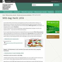 10 november 2016 NME-dag Markt - Departement Leefmilieu, Natuur en Energie