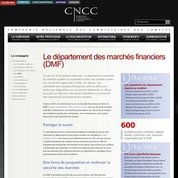 Le département des marchés financiers (DMF)