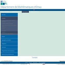 Département de Mathématiques d'Orsay - Contacts